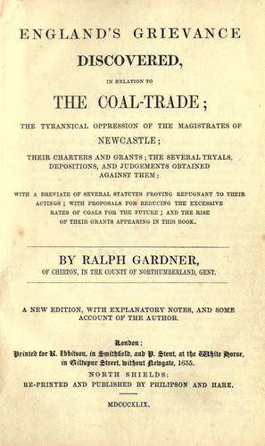 Download England's grievance discovered, in relation to the coal-trade