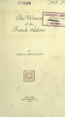 Download The women of the French salons