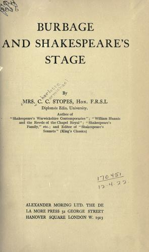 Download Burbage and Shakespeare's stage.