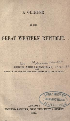 Download A glimpse at the great western republic