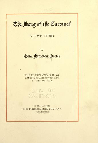 Download The song of the cardinal