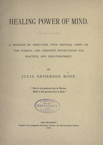 Healing power of mind