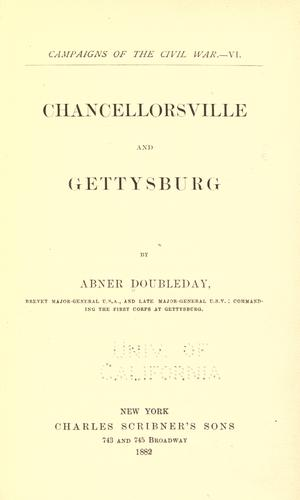 Download Chancellorsville and Gettysburg