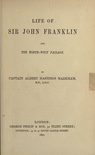 Download Life of Sir John Franklin and the North-west Passage