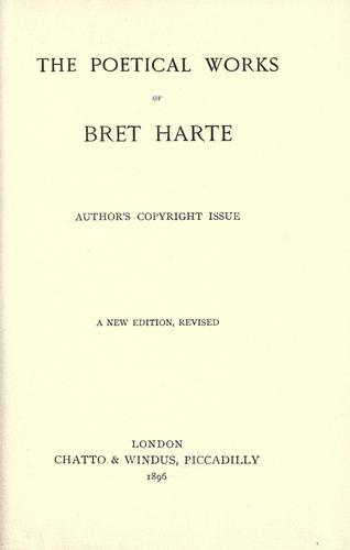 Download The  poetical works of Bret Harte.