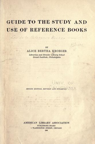 Download Guide to the study and use of reference books.