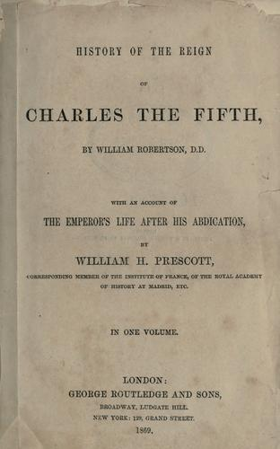 Download History of the reign of Charles the Fifth.