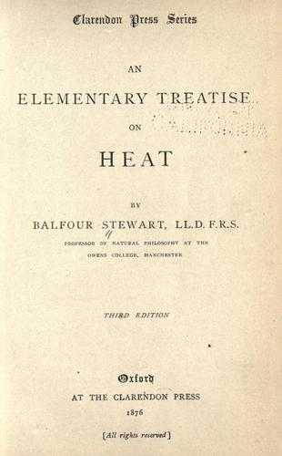 An elementary treatise on heat