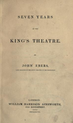 Download Seven years of the King's Theatre.