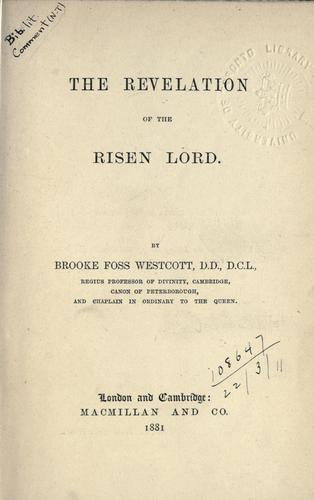 Download The revelation of the risen Lord.