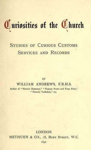 Download Curiosities of the church.
