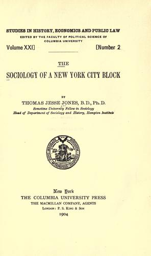Download The sociology of a New York city block