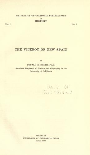 Download The viceroy of New Spain