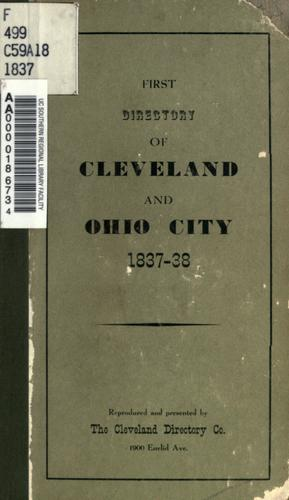 Download A directory of the cities of Cleveland & Ohio, for the years 1837-38