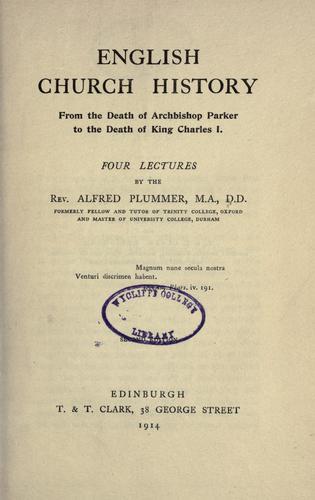 English church history