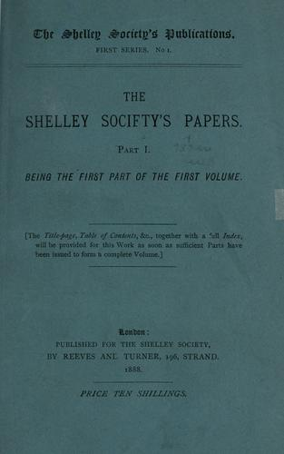 The Shelley Society's papers.