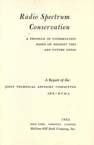 Download Radio spectrum conservation