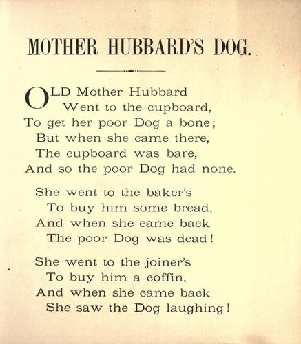 Download Mother Hubbard's dog.