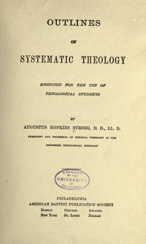 Outlines of systematic theology