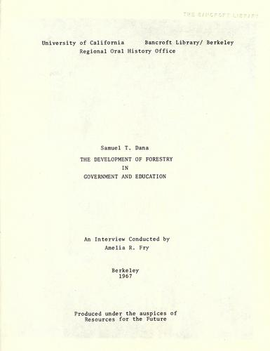 Download The development of forestry in government and education