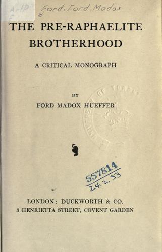 Download The Pre-Raphaelite brotherhood