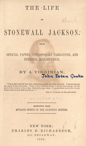 Download The life of Stonewall Jackson