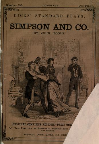 Simpson and Co. a comedy in two acts