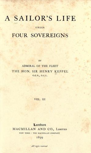 A sailor's life under four sovereigns