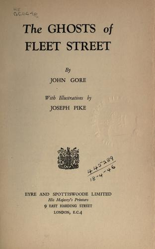 The ghosts of Fleet street