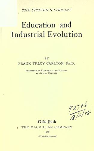 Education and industrial evolution.