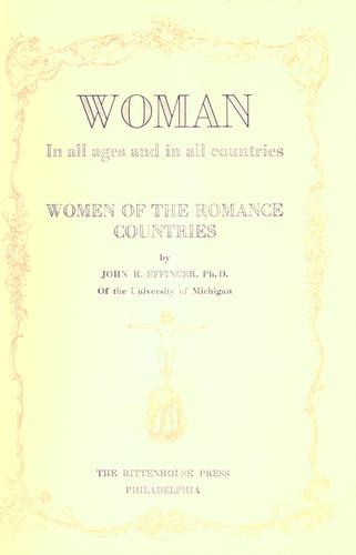Download Women of the Romance countries