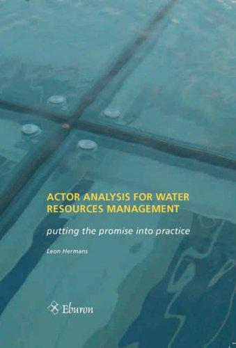 Download Actor Analysis for Water Resources Management