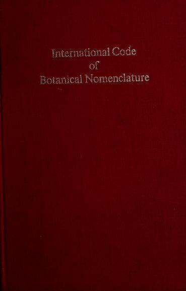International code of botanical nomenclature by