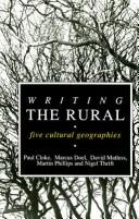 Writing the Rural by Martin Phillips