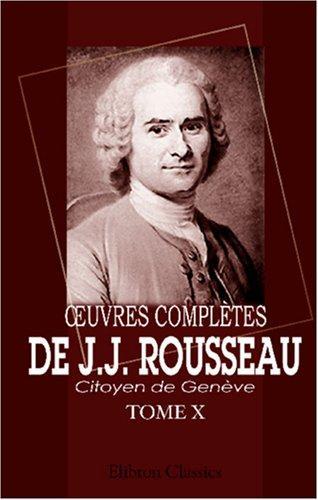 uvres complètes de J.J. Rousseau, citoyen de Genève