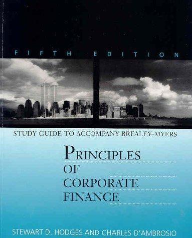 Study Guide to Accompany Principles of Corporate Finance