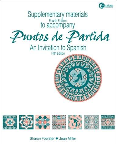 Supplementary Materials t/a Puntos de Partida by Sharon W. Foerster