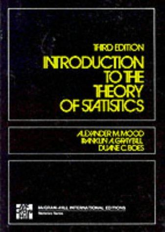 Introduction to the Theory of Statistics by Alexander M. Mood