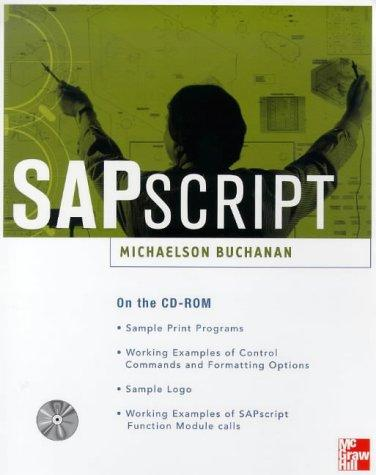 SAPscript by Michaelson Buchanan