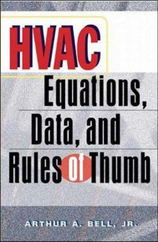 HVAC Equations, Data and Rules of Thumb by Arthur A. Bell
