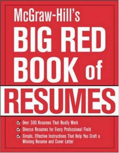 McGraw-Hill's Big Red Book of Resumes by The Editors of VGM Career Books