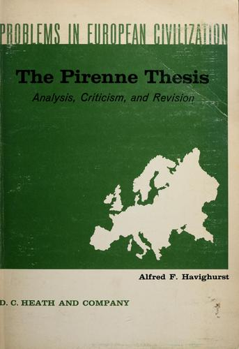 The Pirenne thesis