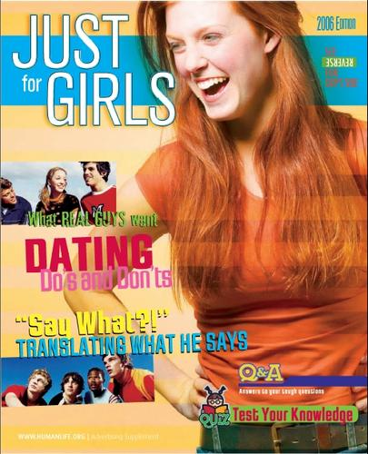 Just for Girls and Just 4 Guys 2006 - Magazine by Human Life Alliance
