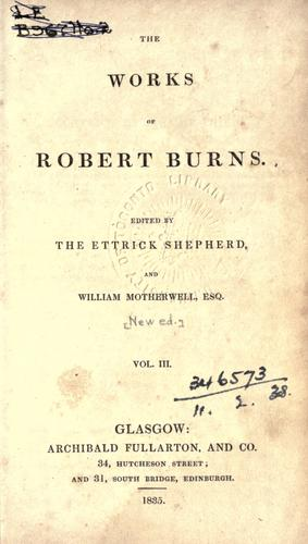 Works by Robert Burns