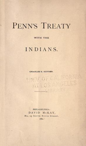 Penn's treaty with the Indians by