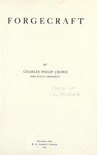 Forgecraft by Charles Philip Crowe