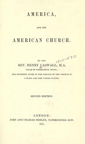 America, and the American church.