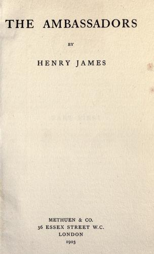 The ambassadors by Henry James, Jr.