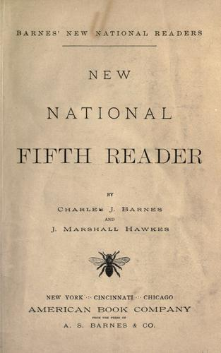 New national fifth reader by Barnes, Charles J.