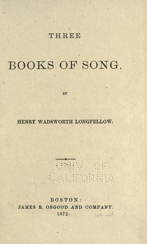 Three books of song.